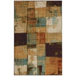 Runaways Brown Abstract Rug (8' x 10')