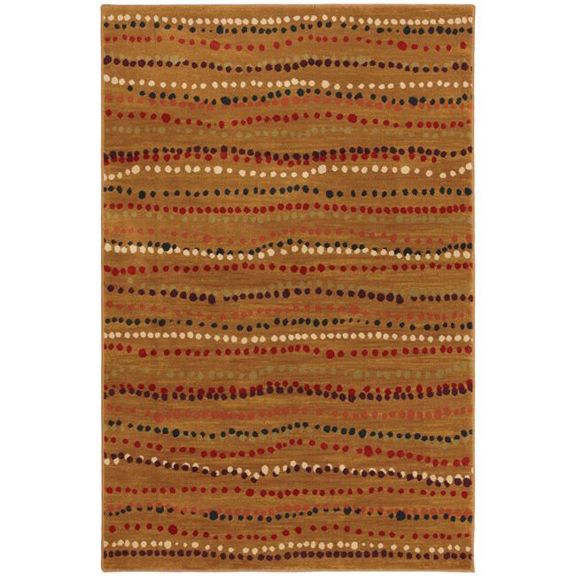 Rock Bottom Gold Stripe Rug (5'3 x 7'10)