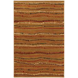 Rock Bottom Gold Stripe Rug (5'3 x 7'10)