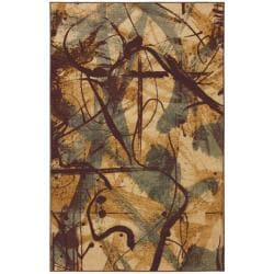 Ivory Abstract Rug (8' x 10')