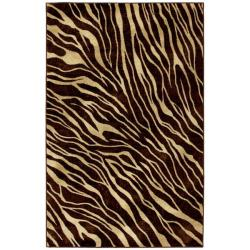 Watamu Beige/ Brown Animal Rug (5' x 8')