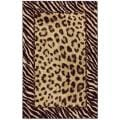 Tigress Ivory/ Brown Animal Rug (5' x 8')