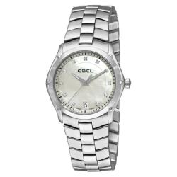 Ebel Women's 'Classic Sport Grande' Mother of Pearl Dial Diamond Watch
