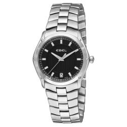 Ebel Women's 'Classic Sport Grande' Stainless Steel Black Dial Watch