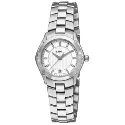 Ebel Women's 'Classic Sport' Stainless Steel Silver Dial Watch