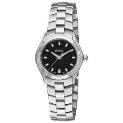 Ebel Women's 'Classic Sport' Stainless Steel Black Dial Watch