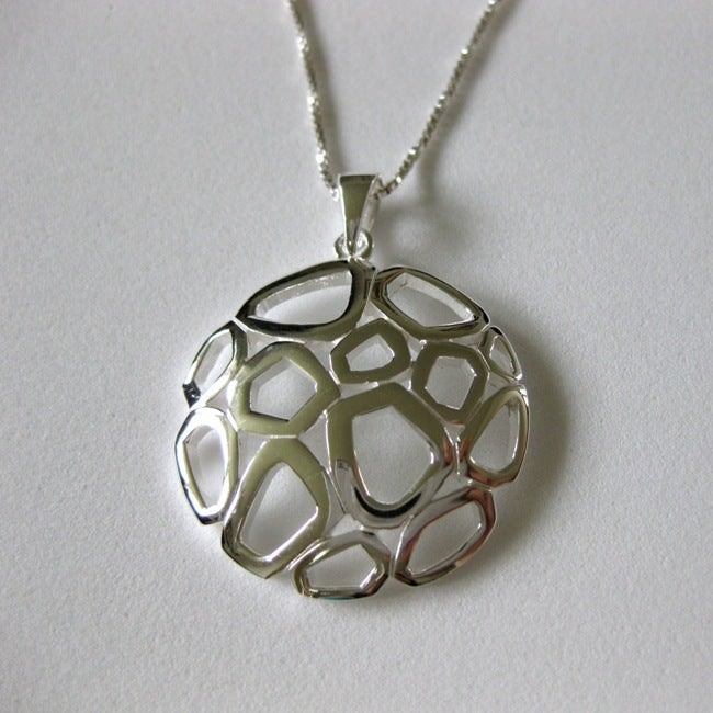 Sterling Silver Fun Circle Polished Necklace (Thailand)