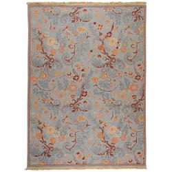 Hand-knotted Reversible Vine Wool Rug (10' x 14')