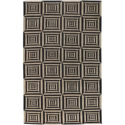 Hand-knotted Illusion Wool Rug (9' x 13')