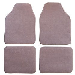 Tan Biege Automotive 4-piece Carpet Floor Mat Set