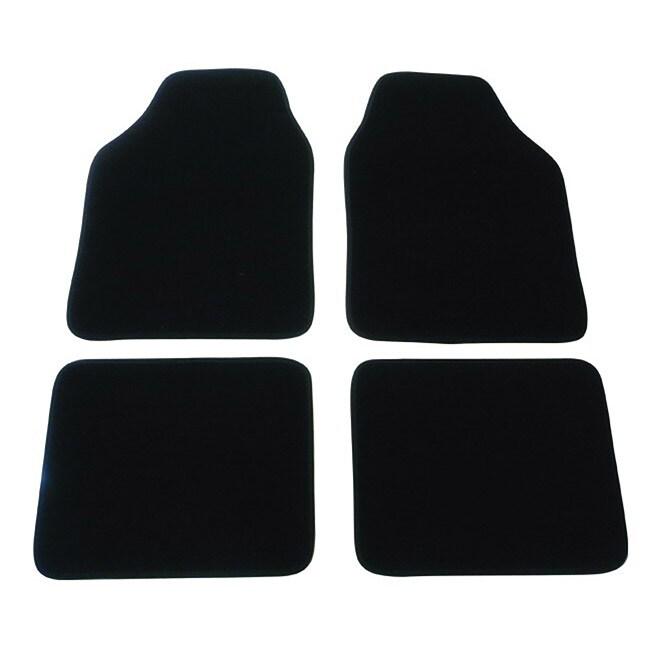 Black Automotive 4-piece Carpet Floor Mat Set
