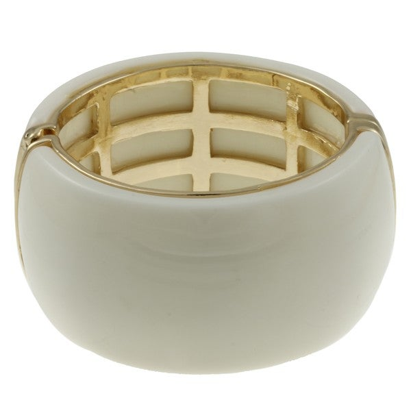 Goldtone Magnetic Ivory Resin Cuff
