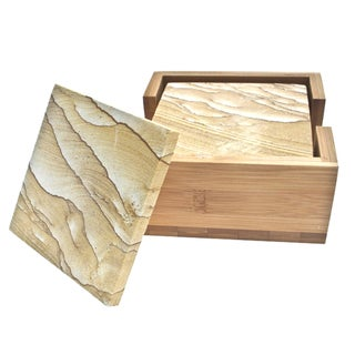 Thirstystone Natural Sandstone Drink Coasters Set