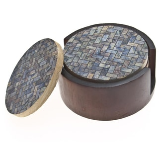 Thirstystone Sandstone &#39;Stone Herringbone&#39; Drink Coaster Set