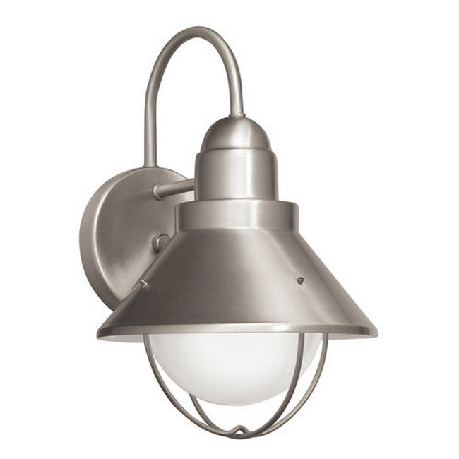 Springfield Outdoor Large 1-light Nickel Wall Mount