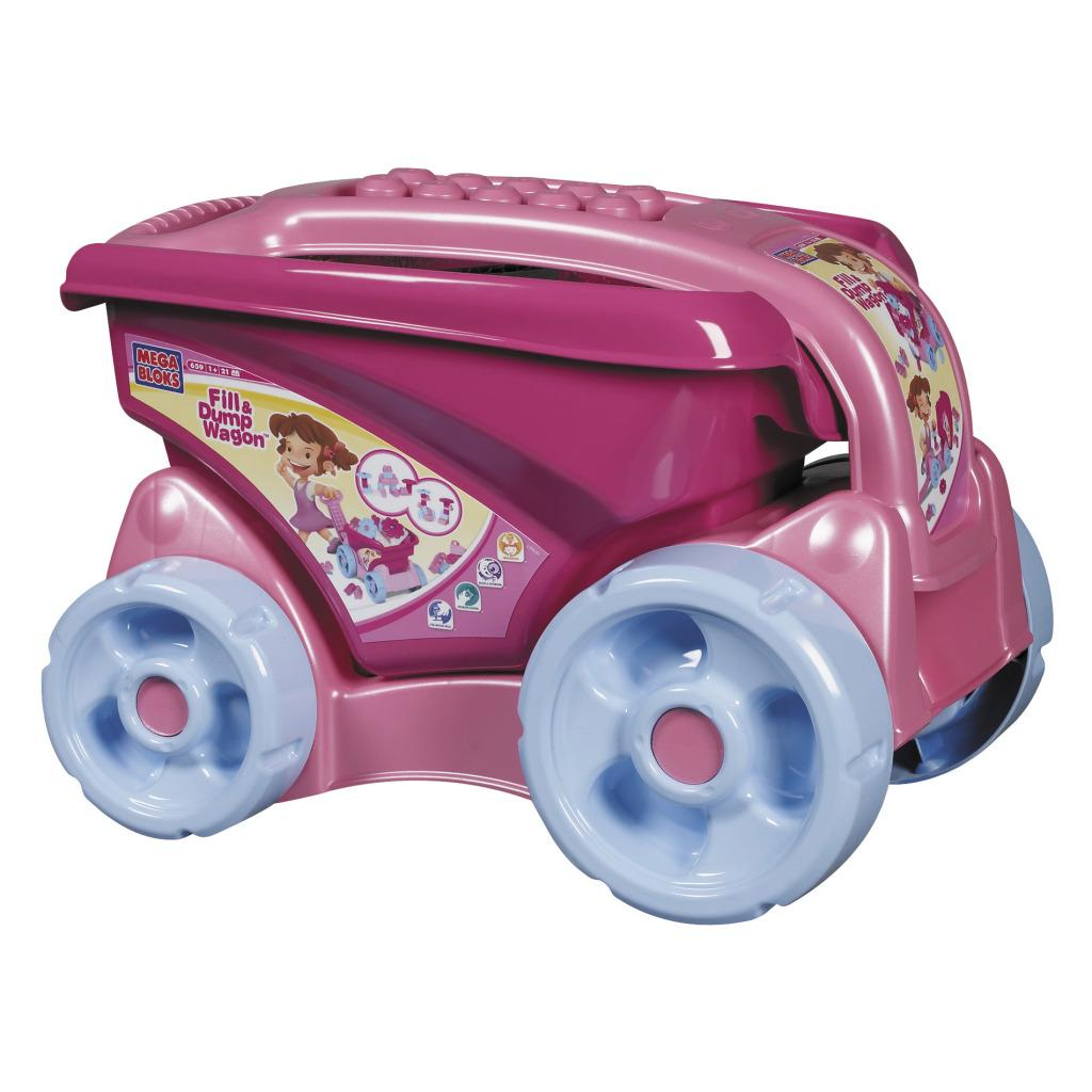 Mega Bloks Fill'n Dump Pink Wagon Toy Set