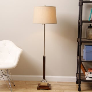 Adjustable Wood and Metal Floor Lamp