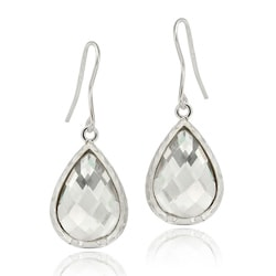Icz Stonez Sterling Silver Cubic Zirconia Teardrop Dangle Earrings