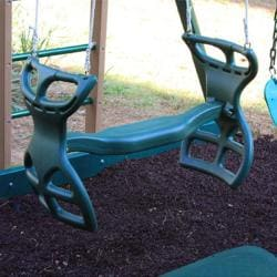 KidWise Green Swing Beam Back to Back Glider with Mounting Bracket