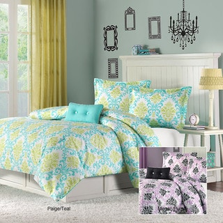 Mizone Paige/ Megan Full/ Queen-Size 4-Piece Comforter Set