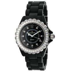 Peugeot Women's Swiss Black Genuine Ceramic Crystal Bezel Watch