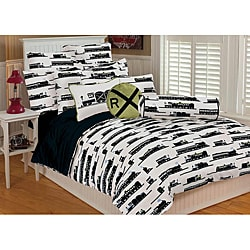 Microplush Twin-size 2-piece Trains Comforter Set