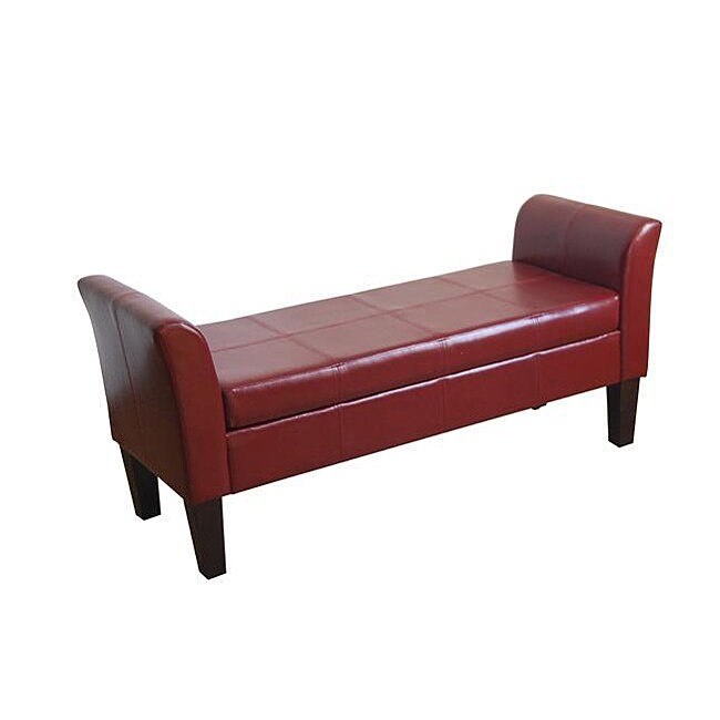 Storage Bench With Curved Arms Overstock Shopping Great Deals On Homepop Benches