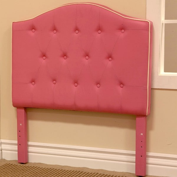 Pink Fabric Twin-size Headboard