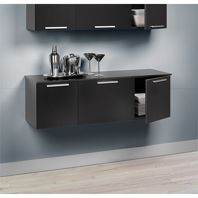 this trendy wall hanging buffet is designed for use in a wide range of