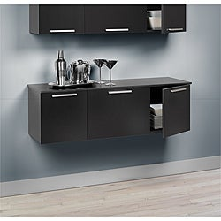 Yaletown Black Wall-mounted Buffet