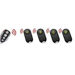 Wireless Remote Key Locator with 4 Receivers