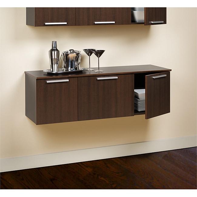 Yaletown Espresso Wall-mounted Buffet