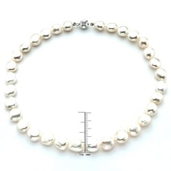 Pearlyta Baroque White Pearl Necklace (13mm)