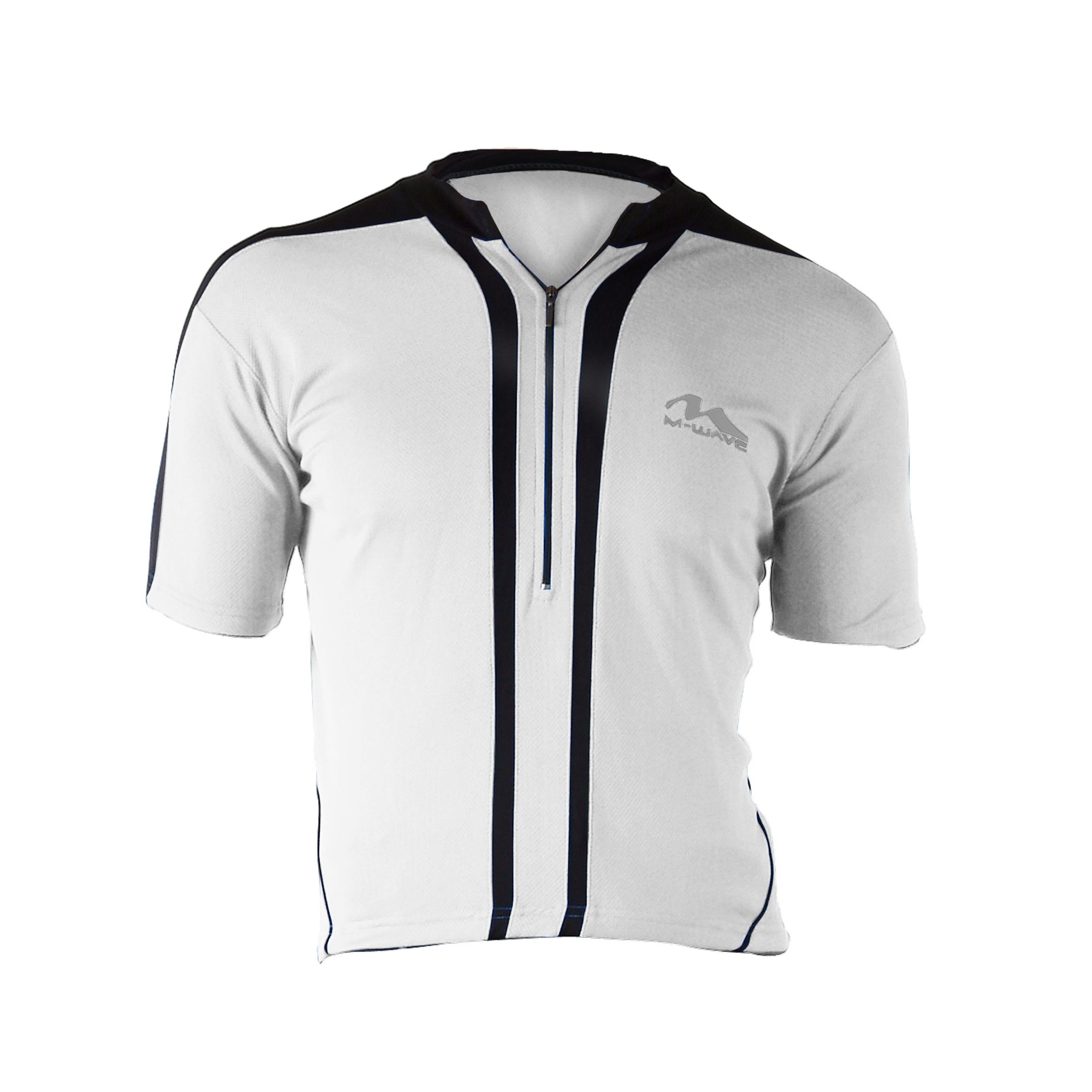 Cycle Force Men's M-Wave White Bicycle Jersey-Large