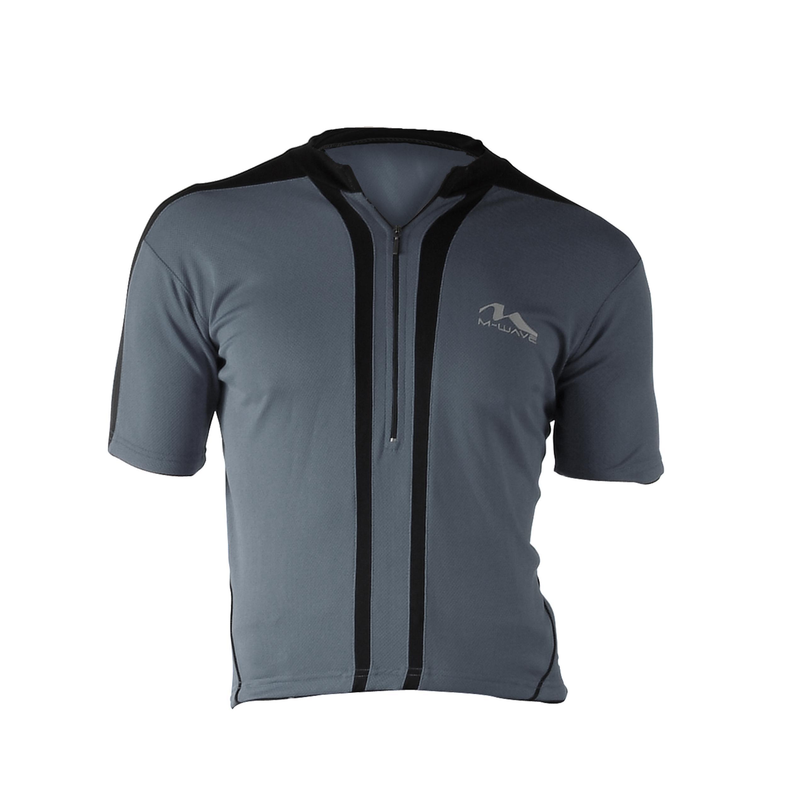 Cycle Force Men's M-Wave Dark Grey Bicycle Jersey (Large)