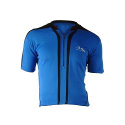 Cycle Force Men's M-Wave Blue Bicycle Jersey (Medium)