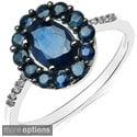 Malaika 10k White Gold Oval-cut Gemstone and Diamond Accent Ring