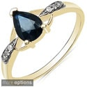 Malaika 10k Yellow Gold Pear-shaped Gemstone and Diamond Accent Ring