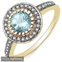 Malaika 10k Yellow Gold Gemstone and 1/5ct TDW Diamond Ring (J-K, I2-I3)