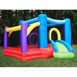 KidWise Lucky Rainbow Inflatable Bounce House