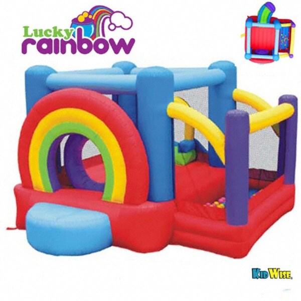 KidWise Lucky Rainbow Inflatable Bounce House 8095217