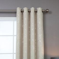 Modern Foil 95-inch Blackout Grommet Curtain Pair