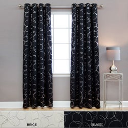 Modern Foil 96-inch Blackout Grommet Curtain Pair