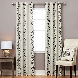 Leaf Print Blackout 84-inch Curtain Panel Pair