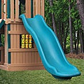 KidWise 7 ft Deck Height Green Rave Slide Upgrade for Play Sets