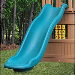 KidWise 5-foot Deck Height Green Rave Slide Upgrade for Play Sets
