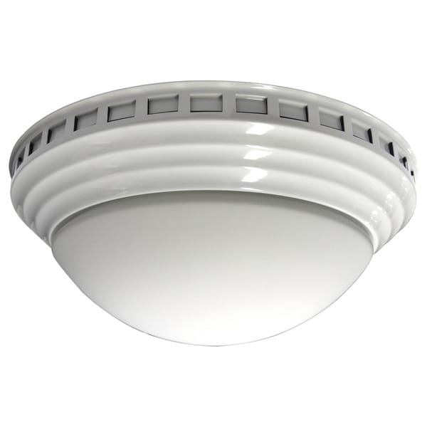Decorative Dome with White Trim 100 CFM Bath Fan