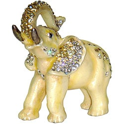 Cristiani Crystal White Elephant Box