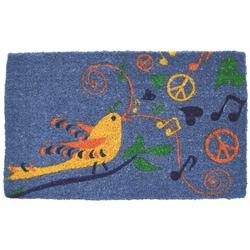 Peace Bird Non-slip Coir Doormat (1'5 x 2'4)