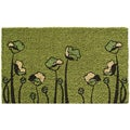 Green Tulips Non-slip Doormat